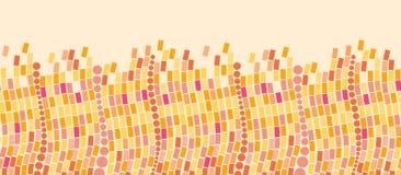 Fire mosaic tiles horizontal seamless pattern Stock Photo