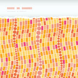 Fire mosaic tiles seamless horizontal torn pattern Stock Photos