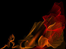 Fire motion background. Abstract  fire on the contrast black background Stock Photo