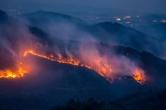 Fire on the Mountain stock image