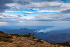 Fire on the mountain Stock Photography