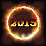Fire 2015 new year background. Vector illustration Stock Photography