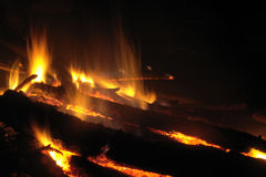 Fire in the night Stock Images