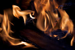 Fire at night Stock Image