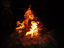 Fire in the night Royalty Free Stock Photos