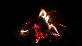 Fire in the night stock footage