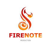 Fire Note Logo Royalty Free Stock Photos