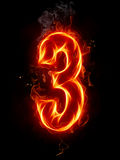 Fire number. A series of fiery letters and numbers Stock Photo