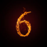 Fire number. On dark background Royalty Free Stock Photo
