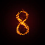 Fire number. On dark background Stock Photo