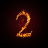 Fire number. On dark background Royalty Free Stock Photography