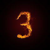 Fire number. On dark background Stock Image