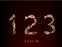 Fire numerals. numbers 123 in the flame against Royalty Free Stock Image