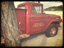fire old truck στοκ φωτογραφία