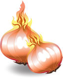 Fire Onions Stock Image