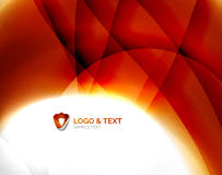 Fire orange abstract swirl template Stock Photo