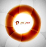 Fire orange abstract swirl template. Modern futuristic wave Royalty Free Stock Image