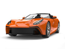 Fire orange modern convertible super sports car Royalty Free Stock Image