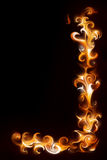 Fire ornament. Abstract fire ornament - computer generated  for your projects Royalty Free Stock Image