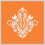Fire ornament. This image is a  illustration and can be scaled to any size without loss of resolution Royalty Free Stock Photography