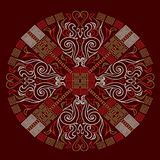 Fire ornaments. Circles with etnic style ornaments made with embroidery software Royalty Free Stock Image