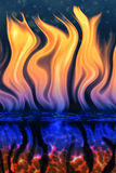 Fire out of water Royalty Free Stock Photography