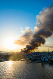 Fire outbreak Royalty Free Stock Photos