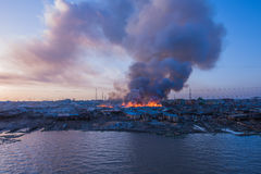 Fire outbreak Stock Images
