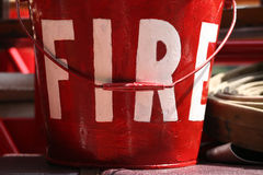 Fire pail in red Stock Image
