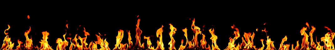 Fire panorama Royalty Free Stock Photos