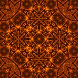 Fire pattern. Black background with bright abstract fire pattern Stock Images