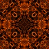 Fire pattern. Black background with bright abstract fire pattern Stock Photography