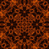 Fire pattern. Black background with bright abstract fire pattern Stock Photo