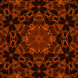 Fire pattern. Black background with bright abstract fire pattern Royalty Free Stock Photo