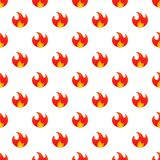 Fire pattern, cartoon style. Fire pattern. Cartoon illustration of fire vector pattern for web Royalty Free Stock Images