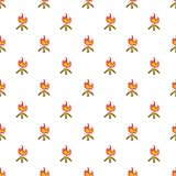 Fire pattern, cartoon style. Fire pattern. Cartoon illustration of fire vector pattern for web Royalty Free Stock Image