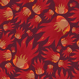 Fire pattern eps10. Red fire seamless pattern eps10 Vector Illustration
