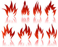 Fire patterns set Stock Image