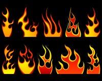 Fire patterns set Royalty Free Stock Photo