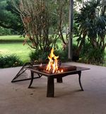 Fire. Peaceful patio fire royalty free stock images