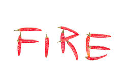 Fire Peppers Royalty Free Stock Photography