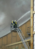 Fire at the Philharmonie Berlin Royalty Free Stock Photos