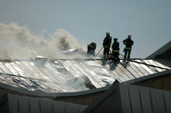 Fire at the Philharmonie Berlin Stock Photo