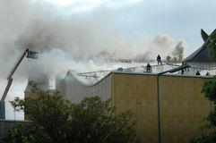 Fire at the Philharmonie Berlin Royalty Free Stock Images