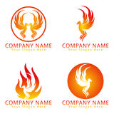 Fire Phoenix Concept Logo Stock Photography