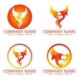 Fire Phoenix Concept Logo Stock Image
