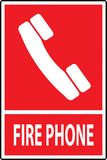 Fire phone emergency  sign. Fire phone emergency call sign,Vector illustration Royalty Free Stock Images
