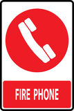 Fire phone emergency  sign. Fire phone emergency call sign,Vector illustration Stock Photography