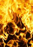 Fire photo on a black background Royalty Free Stock Photography
