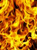 Fire photo on a black background Royalty Free Stock Image